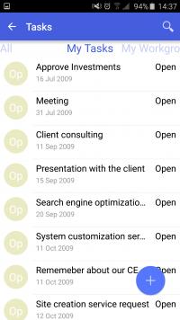 Acumatica ERP Mobile App - Tasks