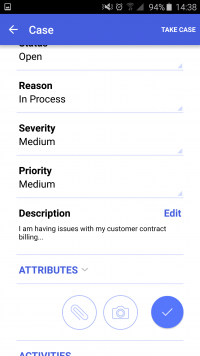 Acumatica ERP Mobile App - Cases