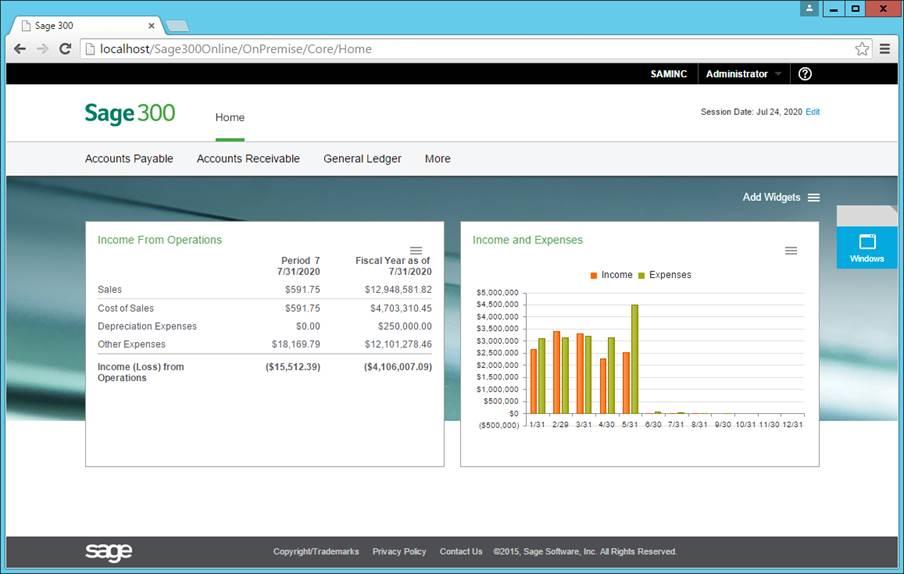 Sage 300 ERP - Accpac New version